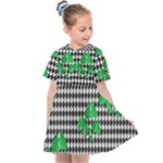 Houndstooth Leaf Kids  Sailor Dress