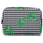 Houndstooth Leaf Make Up Pouch (Medium)