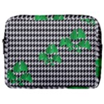 Houndstooth Leaf Make Up Pouch (Large)