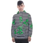 Houndstooth Leaf Men s Front Pocket Pullover Windbreaker