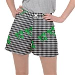 Houndstooth Leaf Ripstop Shorts