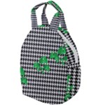 Houndstooth Leaf Travel Backpacks
