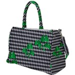 Houndstooth Leaf Duffel Travel Bag