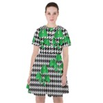 Houndstooth Leaf Sailor Dress