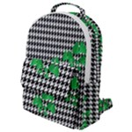 Houndstooth Leaf Flap Pocket Backpack (Small)
