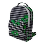Houndstooth Leaf Flap Pocket Backpack (Large)