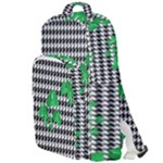 Houndstooth Leaf Double Compartment Backpack