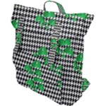 Houndstooth Leaf Buckle Up Backpack