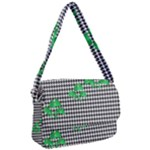 Houndstooth Leaf Courier Bag