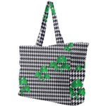 Houndstooth Leaf Simple Shoulder Bag