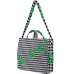 Houndstooth Leaf Square Shoulder Tote Bag