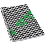 Houndstooth Leaf 5.5  x 8.5  Notebook