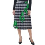 Houndstooth Leaf Classic Velour Midi Skirt