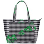 Houndstooth Leaf Back Pocket Shoulder Bag
