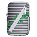 Houndstooth Leaf Belt Pouch Bag (Large)