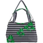 Houndstooth Leaf Double Compartment Shoulder Bag