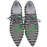 Houndstooth Leaf Pointed Oxford Shoes