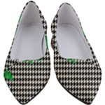 Houndstooth Leaf Women s Block Heels
