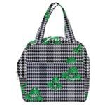 Houndstooth Leaf Boxy Hand Bag