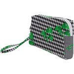 Houndstooth Leaf Wristlet Pouch Bag (Small)