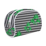 Houndstooth Leaf Makeup Case (Small)
