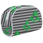 Houndstooth Leaf Makeup Case (Medium)