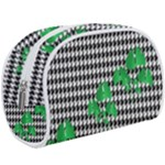 Houndstooth Leaf Makeup Case (Large)
