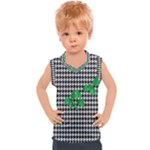 Houndstooth Leaf Kids  Sport Tank Top