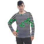 Houndstooth Leaf Men s Pique Long Sleeve Tee