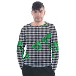 Houndstooth Leaf Men s Long Sleeve Raglan Tee