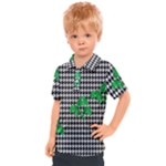 Houndstooth Leaf Kids  Polo Tee
