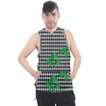 Houndstooth Leaf Men s Sleeveless Hoodie