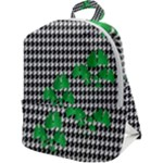 Houndstooth Leaf Zip Up Backpack