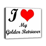 I Love Golden Retriever Canvas 10  x 8  (Stretched)
