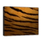Tiger Print Dark	Canvas 14  x 11  (Stretched)