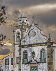exterior facade antique colonial church olinda brazil