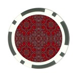 Red Mystic Poker Chip Card Guard from ArtsNow.com Front