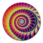 Fractal34 Round Mousepad