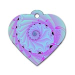 Fractal34 Dog Tag Heart (One Side)
