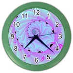 Fractal34 Color Wall Clock