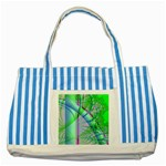 Fractal34 Striped Blue Tote Bag