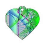 Fractal34 Dog Tag Heart (Two Sides)