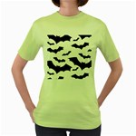 Deathrock Bats Women s Green T-Shirt