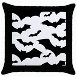 Deathrock Bats Throw Pillow Case (Black)
