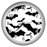 Deathrock Bats Wall Clock (Silver)