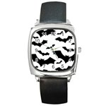 Deathrock Bats Square Metal Watch