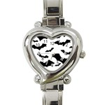 Deathrock Bats Heart Italian Charm Watch