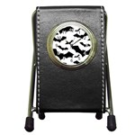 Deathrock Bats Pen Holder Desk Clock