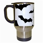 Deathrock Bats Travel Mug (White)