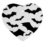Deathrock Bats Heart Ornament (Two Sides)